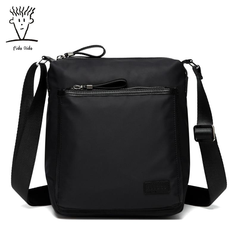 Fido Dido  Best Quality Men's Shoulder Messenger Bags Genuine Nylon Crossbody Sling Bags Leisure Business Handbags For Male!! fido