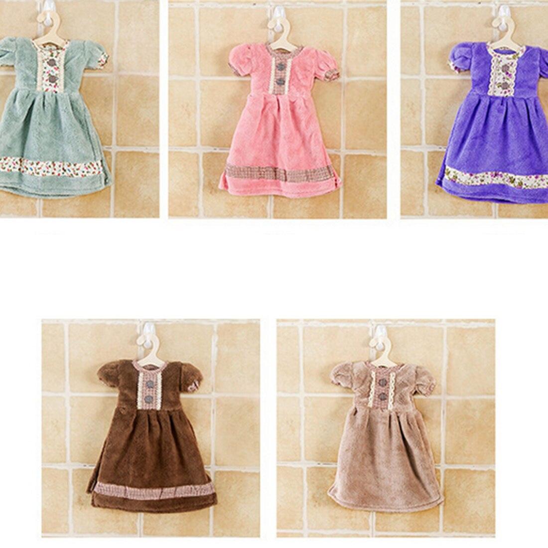 Fashion creative lovely princess skirt dress hand towel for Bathroom dress