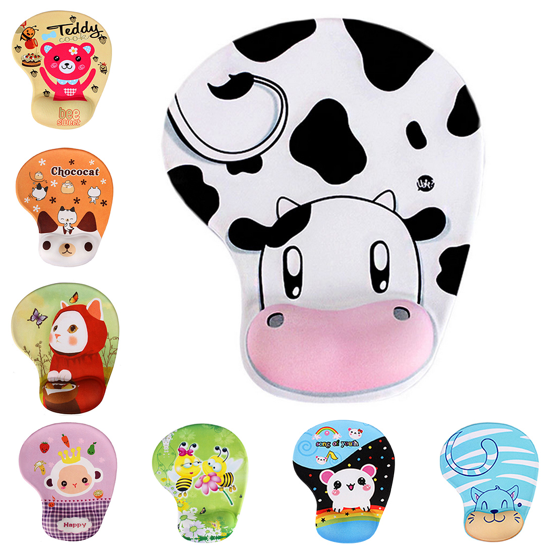 Cute Practical Skid Resistance Memory Foam Comfort Wrist Rest Support Mouse Pad Mice Pad Mousepad
