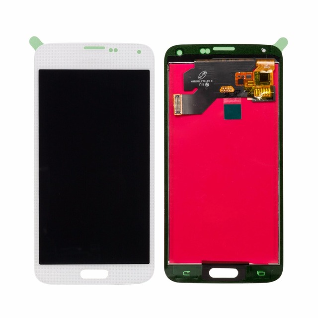 Mobile Phone Spare Parts Black & White Grade AAA LCD Touch Screen for Samsung Galaxy S5 i9600