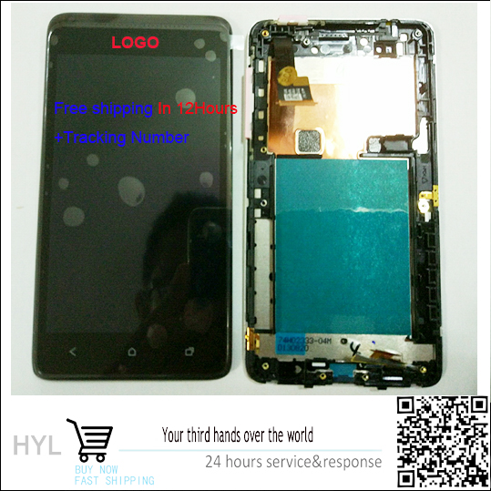 Original Black/White Full LCD Display Touch Screen Digitizer Assembly+frame For HTC Desire 400 T528W One SU free shipping+Track free dhl shipping lcd for htc one m7 lcd display and touch screen digitizer with frame black white silver blue color