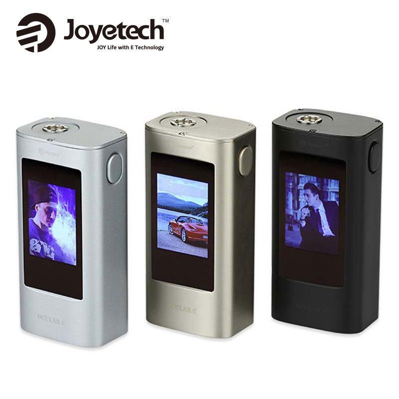ФОТО 100% Original 150W Joyetech Ocular C Mod 150W Box Mod Powred By Dual 18650 Batteries Bluetooth Touchscreen Ocular C 150W Mod