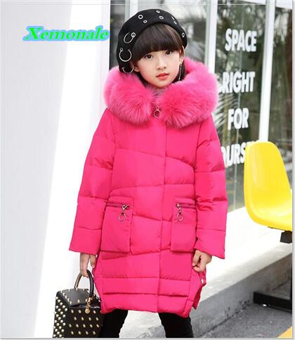 Winter Baby Girls Down Coats Children Thick Warm Jackets Kids Outdoor Windproof Outerwear Long Style Parkas Children Down Coats high quality children winter outerwear 2017 baby girls down coats jacket long style warm thickening kids outdoor snow proof coat