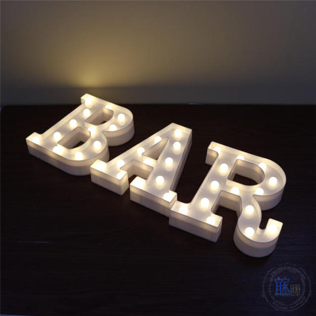 Marquee Luminaria Led Night Light Desk Table Love Letter Bar Sign Home Decoration Lamp Wedding