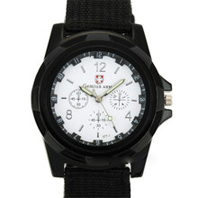 Men Army Watches Clock Relogio Masculino Fashion Gemius Army Racing Force Military Sport Men Officer Fabric Band Watch 2016 New
