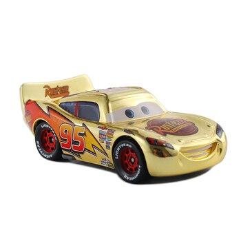 Cars 3 Disney Pixar Cars Metallic Finish Gold Chrome McQueen Metal Diecast Toy Car Lightning McQueen Children's Gift 2