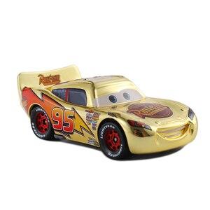 Image 2 - Brinquedo metálico dourado McQueen carros 3, presentes para crianças, mcqueen, espelhado, disney
