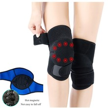 2 PCS Self-heating Knee Protector Warmer Adjustable Tourmaline Magnetic Therapy Pads Support with Patella Stabilizer Brace