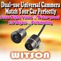 Witson двойного назначения камеры CCD вид сзади парковка цветная камера автомобиля обратный резервный водонепроницаемая камера с широким углом взгляда - акция