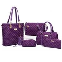 Women Bag Set Top Handle Bags 6 Pieces Brand 2018 Women Messenger Bag Purses And Handbag