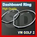 Para Volkswagen para VW Golf 2 MK2 Chrome Cluster Anéis Anéis Calibre Cromo Dashboard ABS
