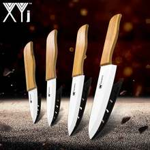 XYj Keramik Koch Messer Zirkonoxid-keramik Cleaver Obst Utility Slicing Chef Küche Messer Sets Bambus Griff Besteck(China)