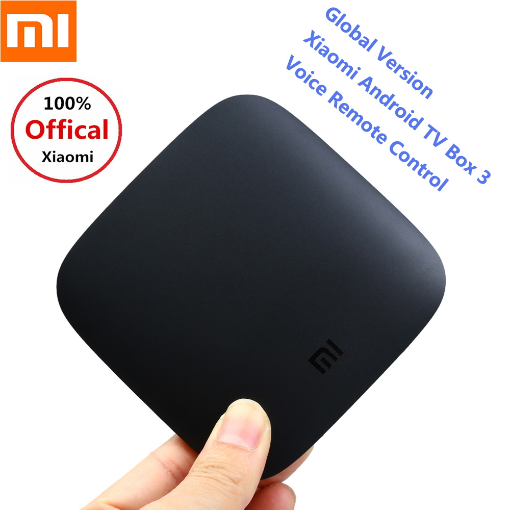Global Version Xiaomi TV Box 3 Voice Remote Control Android TV Box 2GB 8GB Smart TV Box 5G WiFi Set-Top Box 4K TV Media Player