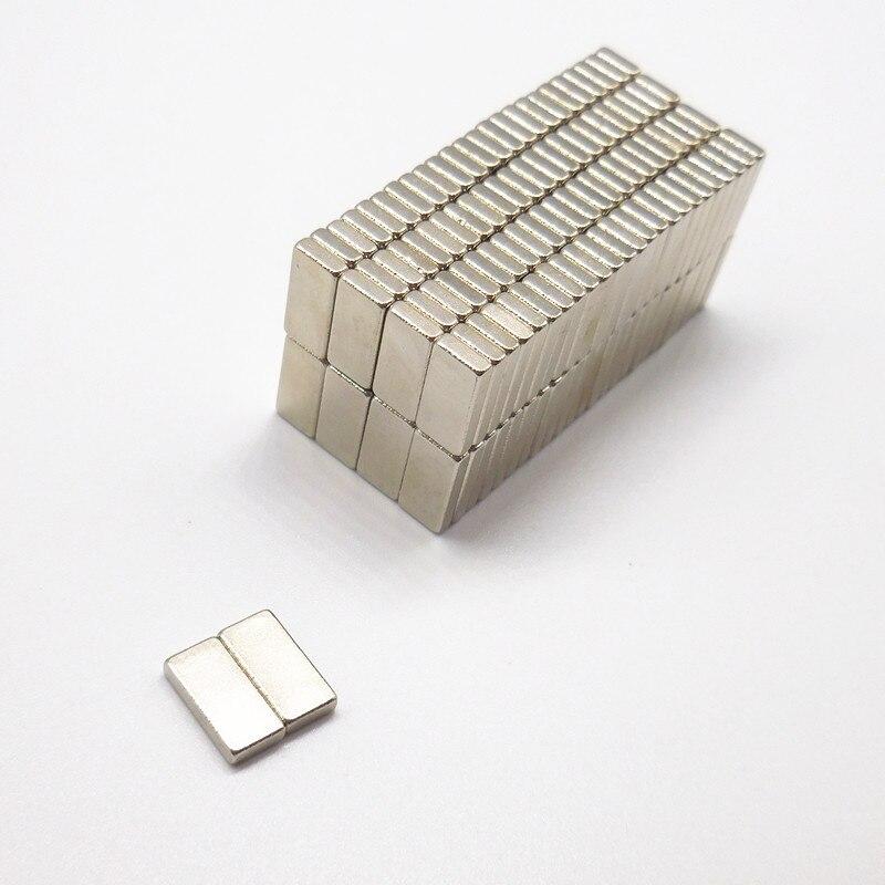 Купить с кэшбэком 100PCS 12*4*2mm 10*5*2mm 5*5*3mm n35 Rare Earth strong permanent NdFeB Neodymium Magnet