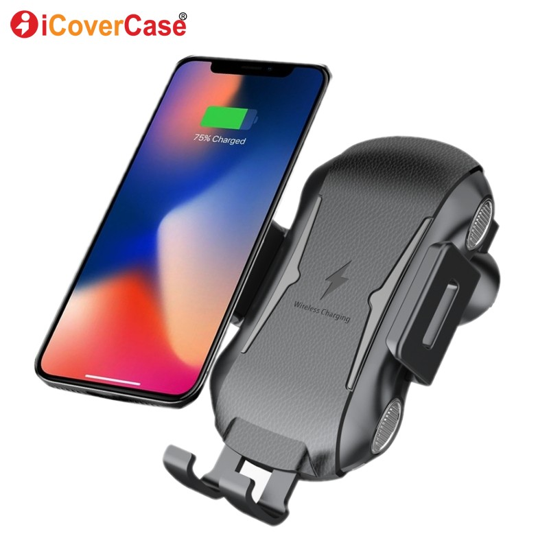 Qi Car Wireless Charger For Samsung Galaxy S10 S10e S8 S9 Plus S9+ Note 9 8 5 Phone Charger Fast Wireless Charging Mount Holder