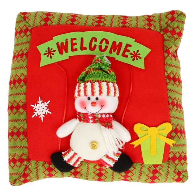 1pcs Santa Claus Snowman Sofa Cushion Cartoon Decorative Cojines Christmas Decoration Home Hotel Car Seat