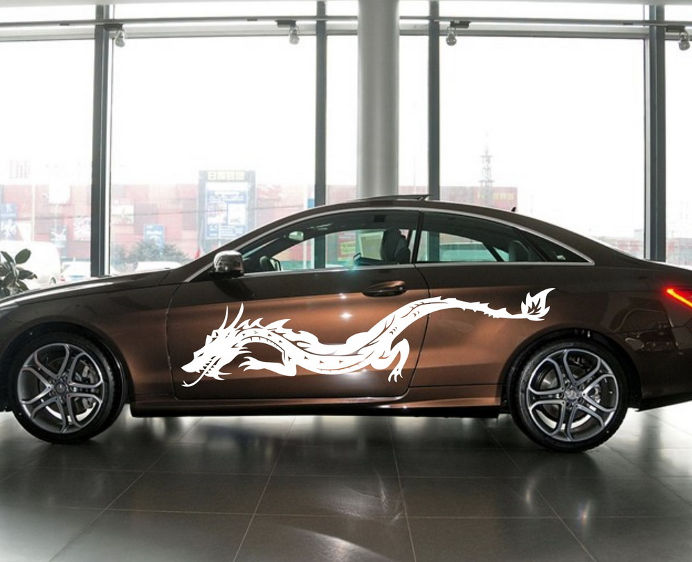 Aliexpress com buy car dragon flying tribal 82 door decal for a class vinyl side decor sticker zc502 from reliable tribal decal suppliers on cpcdecals