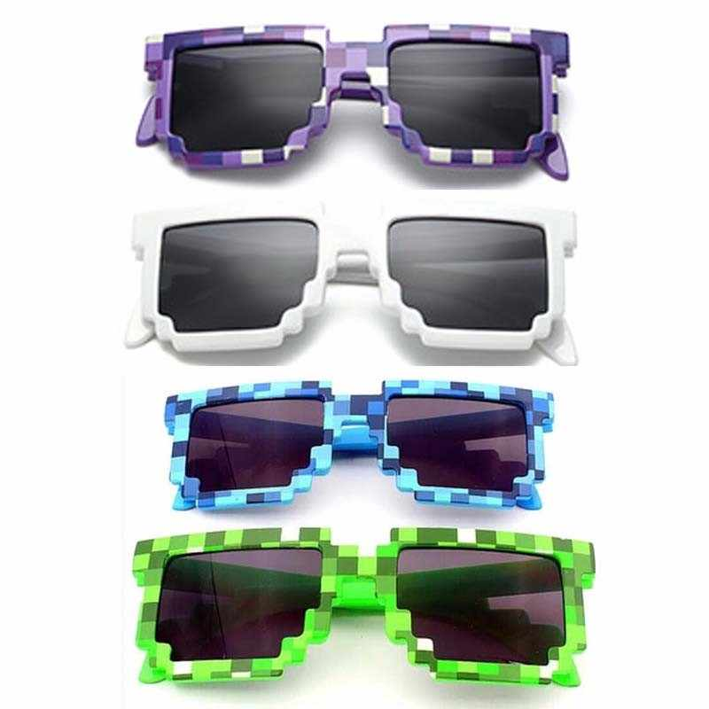 5 Color Fashion Sunglasses Kids Cosplay Action Game Toys Boys Girls Square Sun Glasses Children Birthday Gift