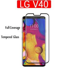 For LG V40 Tempered Glass V40 3D Full Screen Tempered Glass Screen Protector For LG V40 3D Curved Protective film(China)