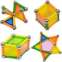 50pcs Magnet Toy Bars Metal Balls Magnetic Building Blocks Construction Toys For Children Intelligence Educational Game