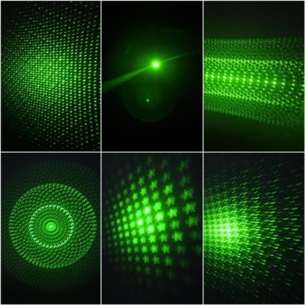 Мощен 5mW 6in1 зелен лъч лазерна - Офис електроника - Снимка 6