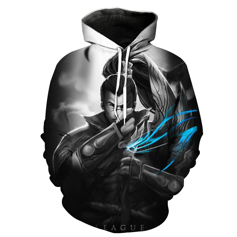 7251d521bab9 Fashion Brand 3D Hoodies for men 3d Hooded Sweatshirts Yasuo the Unforgive  print Two Parts Printed