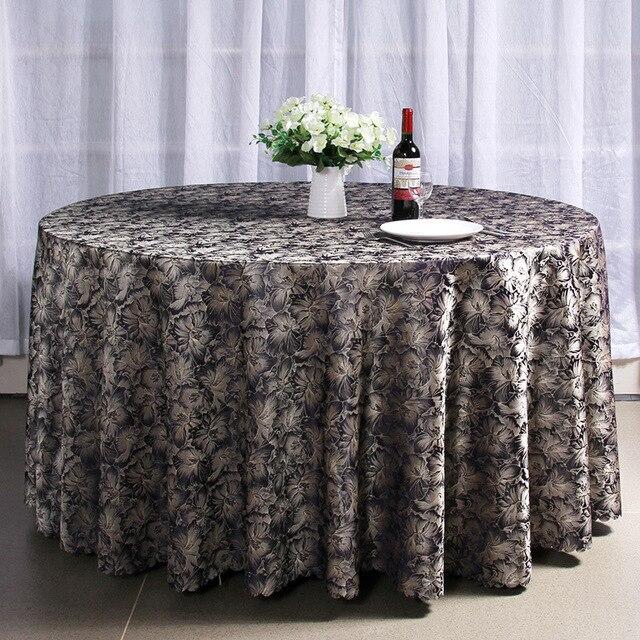 € 34.67  Ronde nappe rectangulaire hoteltablecloths pour mariages brodé  nappe pour Banquet Party Dinner Table Tissu pour l\'événement dans Nappes de  ...