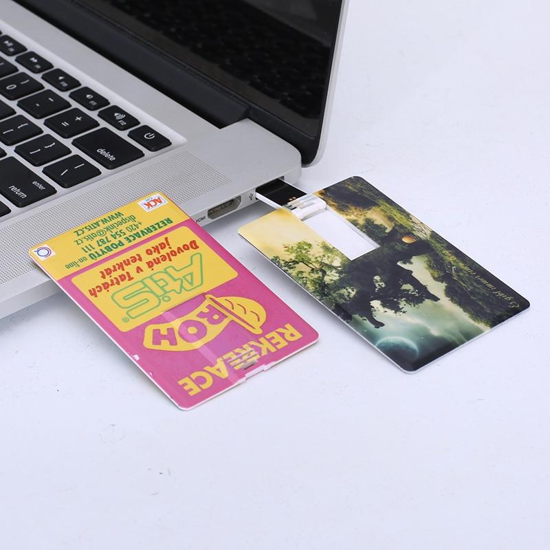 ახალი საკრედიტო ბარათის ფორმა USB Flash დრაივები მეხსიერება Pendrives USB 2.0 მაღალი სიჩქარე 32 GB 16 GB 8 GB 4G ბეჭდვა ფოტო ან ლოგო, როგორც საჩუქარი