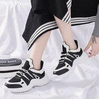 LMCAVASUN Platform Sneakers Women 2019 Breathable Mesh Casual Shoes Female Fashion Sneaker Lace Up Women Vulcanize Shoes