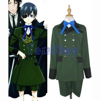 Black Butler Ciel Phantomhive Green Uniform Cosplay Costume Custom Size free shipping