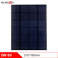 ELEGEEK Mini 5W 6V Solar Power Panel Cell Bank DIY Home Solar System For Battery Cell Phone Chargers Portable Solar Panel 6V