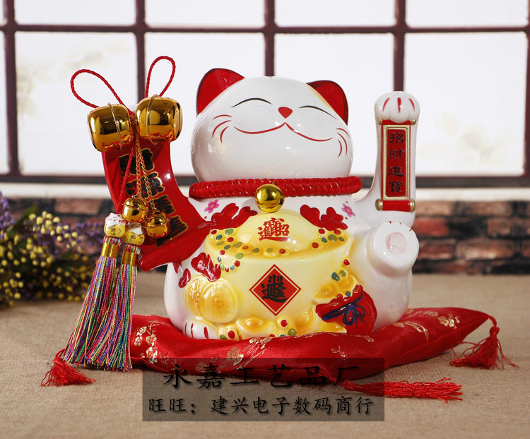 Crafts Arts Home decoration Ceramic handle oversized cat wedding wedding gift shops opened Home Furnishing creative gift ornamen