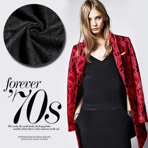 Livraison gratuite! Luxe cachemire laine tissu composite dentelle cachemire tissu vente en gros de haute qualité laine tissu
