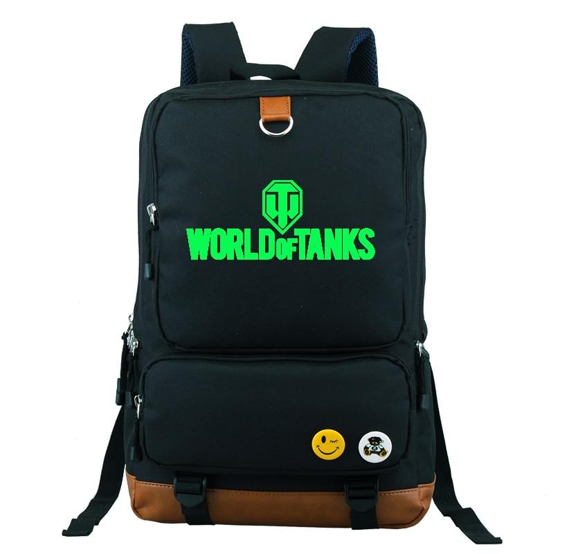 ФОТО World of Tanks Military Online Games Backpack School Bag Large Size Laptop Bag Xmas Gift Mochila Boys Girls
