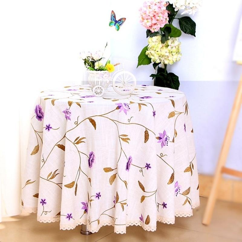 Vezon Europe Elegante Leinenstickerei Blumentischdecken Zarte - Haustextilien - Foto 3