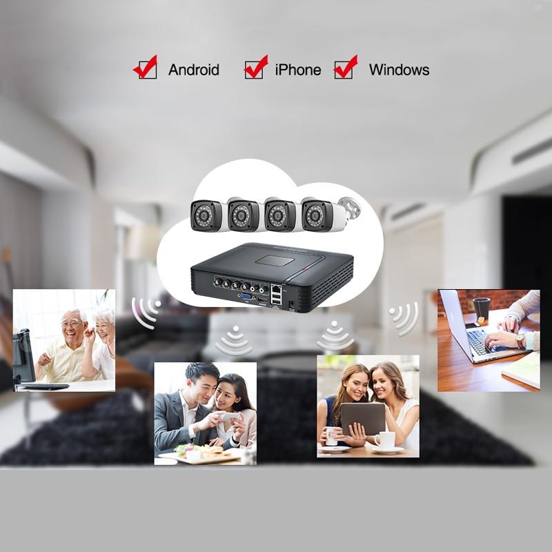 Image 4 - Fuers, 4 шт., 4MP, 4CH, AHD DVR, CCTV камера, система безопасности, комплект, уличная камера, система видеонаблюдения, ночное видение, P2P, HDMI, 1520P-in Система наблюдения from Безопасность и защита