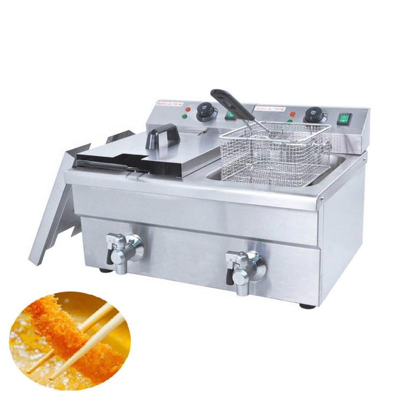 BEIJAMEI 6LFE 2 Commercial Electric Chicken Deep Fryer/Deep Oil Frying Machine/Commercial Potato Chips Deep Fryer