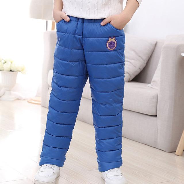 Grandwish Meninos de Esqui No Inverno Calças Crianças Calças Compridas Meninas calças de Comprimento Total Calças Quentes Crianças calças de Algodão Casuais Calças 4 T-12 T, SC648