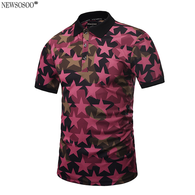 Newsosoo Brand Camouflage Five-pointed star designer Polo Shirt Men summer style 2017 men's tops male M-3XL PT6