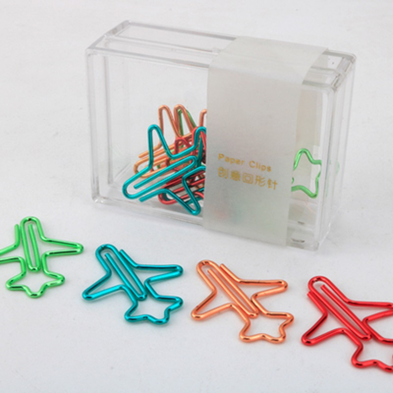 Befriend Multicolour Paperpaper Needle 12 Metal Paper Clip Office Stationery Pin Plane Paper Clips