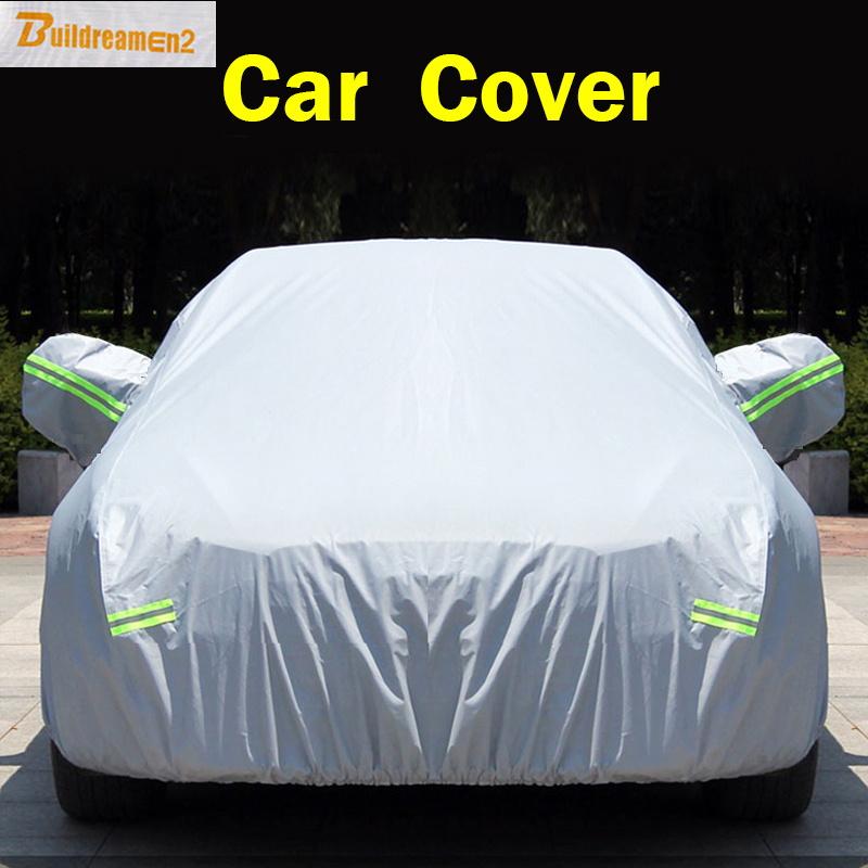 Buildreamen2 New Car SUV Sedan Hatchback Cover Anti UV Outdoor Rain Shield Snow Protection Covers Sun