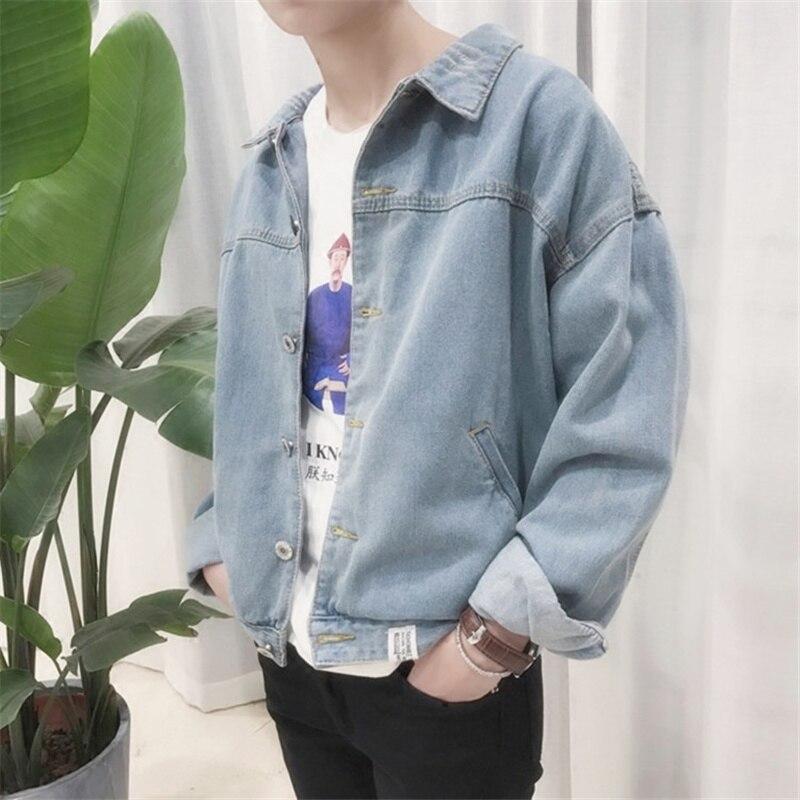 Гонконг Стиль красивые джинсы Ковбой пальто, корейский студент, Новинка осени свободные с длинными рукавами Повседневная модная куртка для...