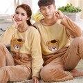 NUEVO Invierno Oso/Ovejas/Abeja Pareja Pijama Establece Pijamas Para Adultos para Las Mujeres/de Los Hombres/Mujer de Patas Adultos pijamas Animal ropa de Noche Caliente