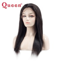 Queen Hair Products Brazilian Straight Hair Lace Front Human Hair Wigs For Black Women 150% Density Swiss Lace Lace Front Wig