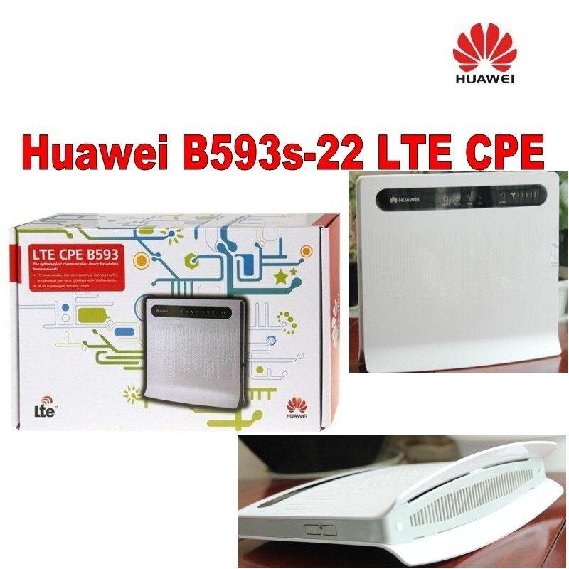 Lot de 100 pièces HUAWEI B593s-22 4G LTE CPE Routeur WiFi Industriel + une paire de B593 antenne