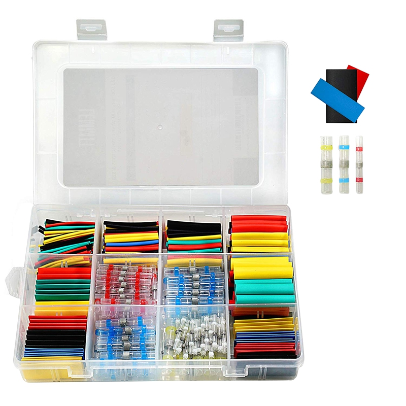 448Pcs Solder Seal Wire Connectors Waterproof & Heat Shrink Tubing Butt Connectors And Shrink Tubes All In One Electrical,Boat