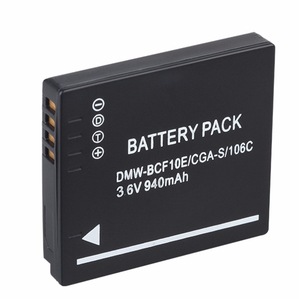 940MAH Battery for Panasonic Lumix Camera CGA-S/106C CGA-S/106D /106B DE-A59B DE-A60B DM ...