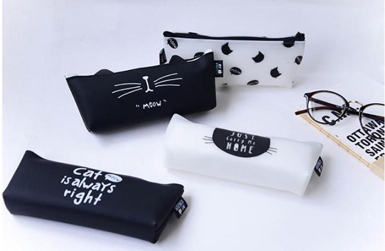Animal Cat Children Pencil Bags Pen Holder,Multi-function Women Make-up Bag,School Supplies Pen Case For Student