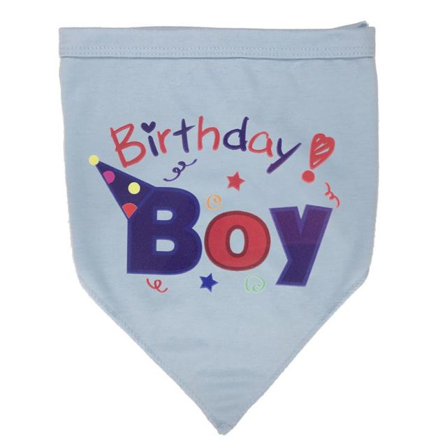 Cotton Dog Birthday Triangular Scarf Cute Party Pet Accessories Collar Bib Gift For Small Puppy