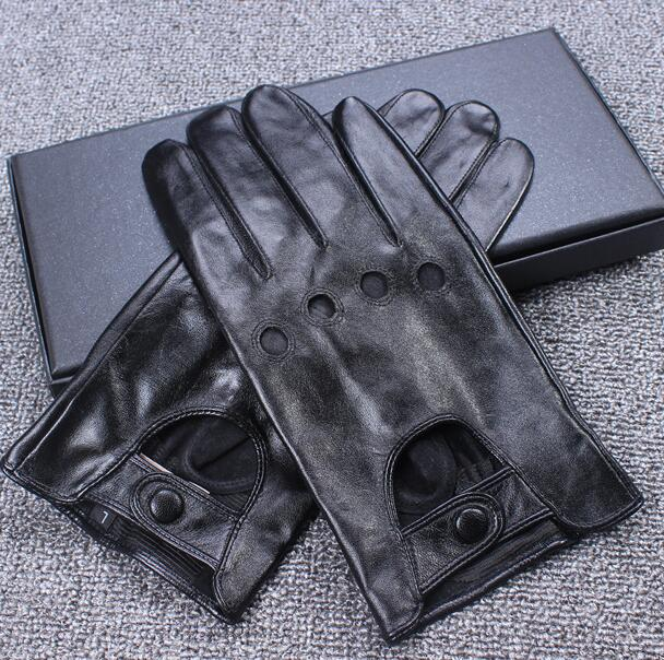Men's Touch Screen Glove Male Natural Sheepskin Leather Motorcycle Glove Genuine Leather Driving Glove R289